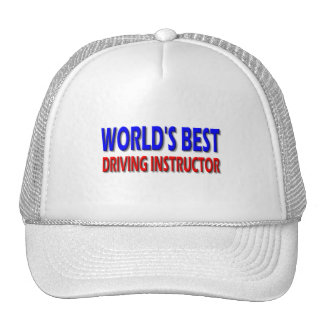 World's Best Driving Instructor Trucker Hat
