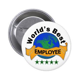 World's Best Employee 2 Inch Round Button