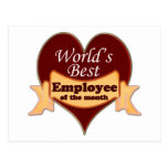 World's Best Employee of the Month Postcard