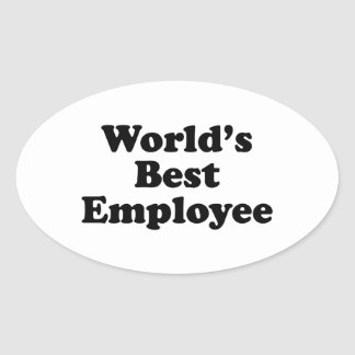 World's Best Employee Oval Sticker