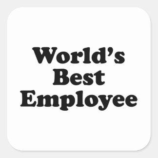 World's Best Employee Square Sticker