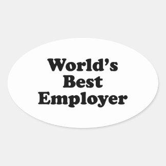 World's Best Employer Oval Sticker