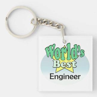 World's best Engineer Single-Sided Square Acrylic Keychain