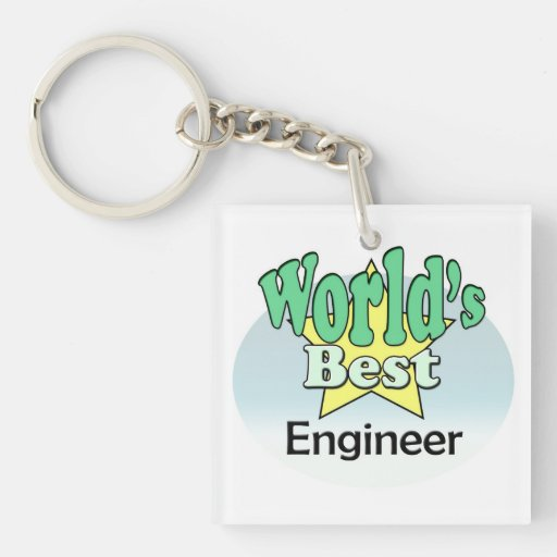 World's best Engineer Acrylic Key Chains