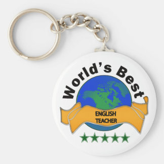 World's Best English Teacher Keychain