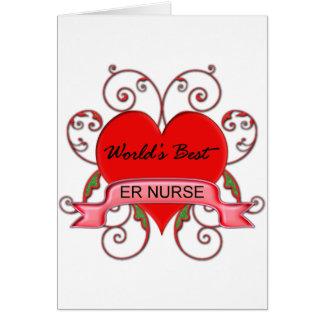 World's Best ER Nurse Greeting Card