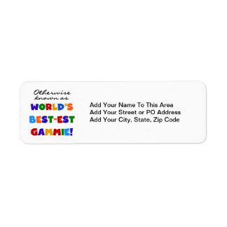 World's Best-est Gammie T-shirts and Gifts Return Address Label