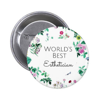 World's Best Esthetician gift 4 2 Inch Round Button