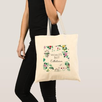 World's Best Esthetician gift 4 Large Tote Bag