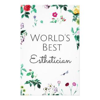 World's Best Esthetician gift 4 Stationery Design