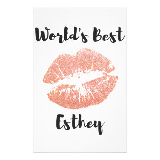 World's Best Esthetician gift 6 Stationery Paper