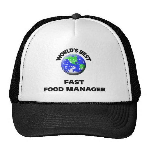 World's Best Fast Food Manager Mesh Hats