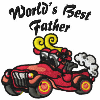 World's Best Father Car Embroidered Shirt