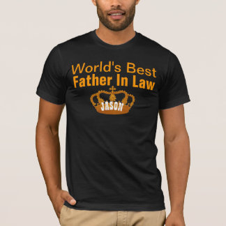World's Best FATHER IN LAW Vintage Gold Crown A10 T-Shirt
