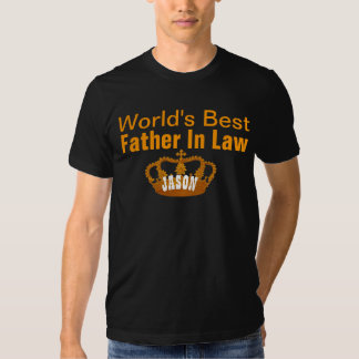World's Best FATHER IN LAW Vintage Gold Crown A10 T-shirts