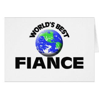 World's Best Fiance Card