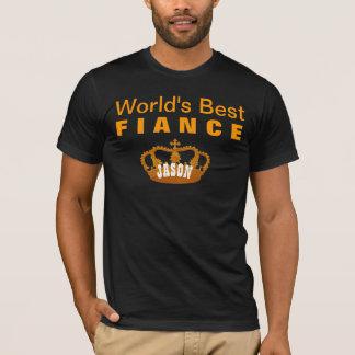 World's Best FIANCE Vintage Gold Crown A12 T-Shirt