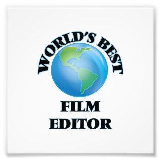 World's Best Film Editor Photographic Print