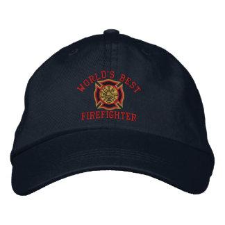 World's Best Firefighter Custom Embroidery Baseball Cap