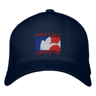 World's Best Firefighter Custom Embroidery Embroidered Hats