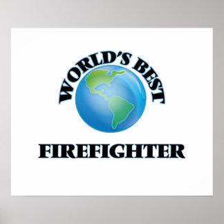 World's Best Firefighter Print