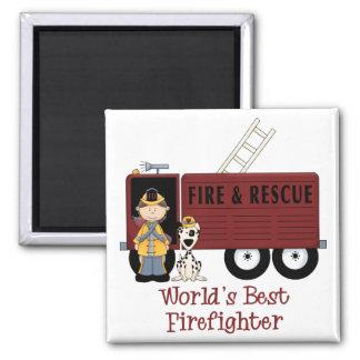 World's Best Firefighter Woman Magnet