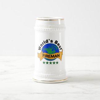 World's Best Fireman Beer Stein