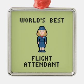 World's Best Flight Attendant Metal Ornament