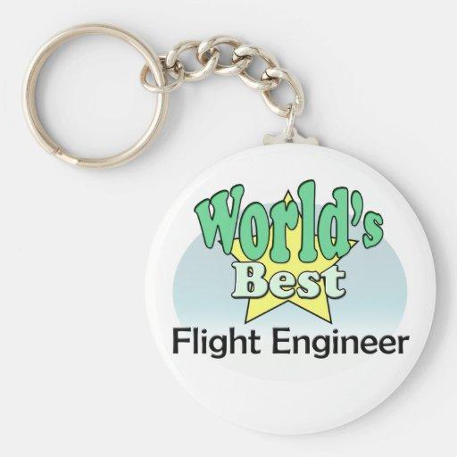 World's best Flight Engineer Keychains