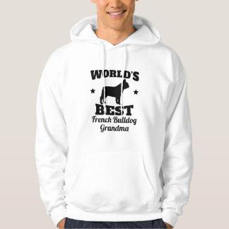 Worlds Best French Bulldog Grandma Hoodie
