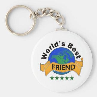 World's Best Friend Basic Round Button Keychain