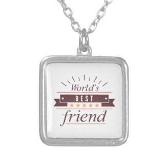 World's Best Friend Silver Plated Necklace