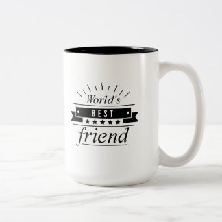 World's Best Friend Two-Tone Coffee Mug