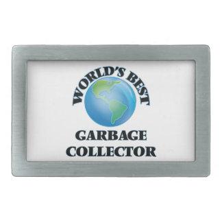 World's Best Garbage Collector Rectangular Belt Buckle