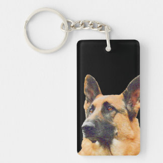 World's Best German Shepherd Dad Keychain