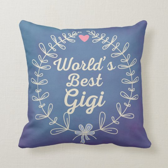 World's Best Gigi Grandma Wreath Pillow