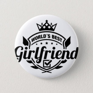 WORLDS BEST GIRLFRIEND 2 INCH ROUND BUTTON