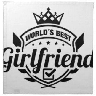WORLDS BEST GIRLFRIEND NAPKIN