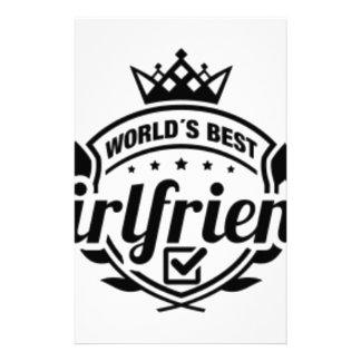 WORLDS BEST GIRLFRIEND STATIONERY