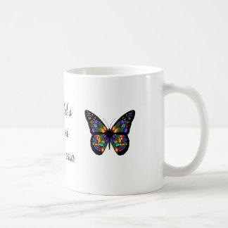 'World's Best Glamma' Butterflies Coffee Mug