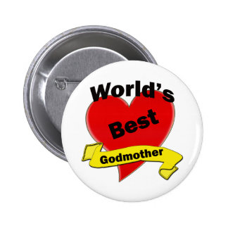 World's Best Godmother 2 Inch Round Button