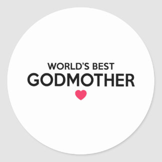 World's Best Godmother - Newborn Baby Christening Classic Round Sticker