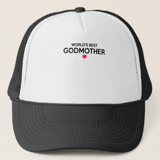 World's Best Godmother - Newborn Baby Christening Trucker Hat