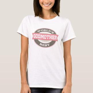 World's Best Godmother vintage logo ladies T-shirt