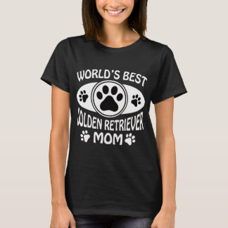 WORLD'S BEST  GOLDEN RETRIEVER MOM T-Shirt