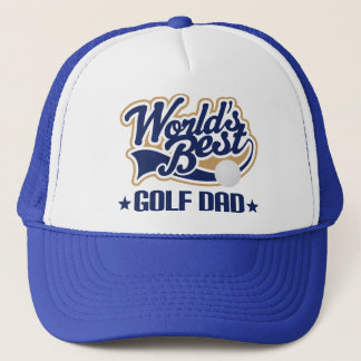 Worlds Best Golf Dad Gift hat