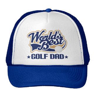 Worlds Best Golf Dad Gift hat