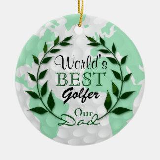 World's Best Golfer - Our Dad | DIY Text Ceramic Ornament