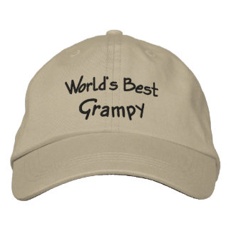 World's Best Grampy Embroidered Hats