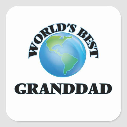 World's Best Granddad Square Sticker
